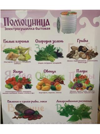 Сушка для овощей и фруктов Помощница 7 (поддон для пастилы)