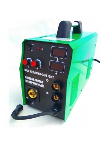 Сварка п/а Минск 380 инверторный 3 в 1 с двумя электронными табло (МТЗ МGА-380)