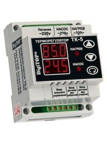 Терморегулятор ТK-5 (цифровой) 6А DIN рейка