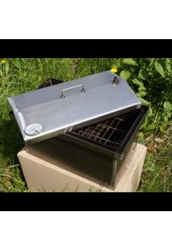 Коптильня с гидрозатвором и термометром, 520х310х280, 2мм