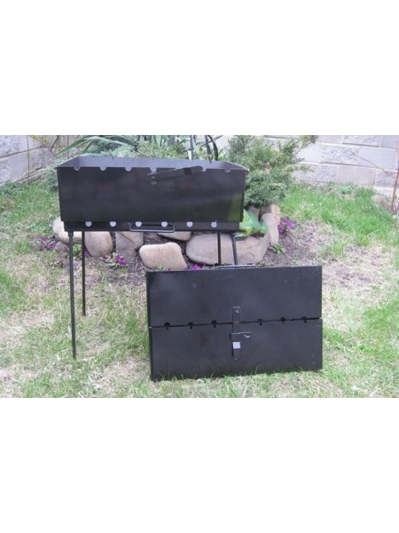 Мангал-чемодан на 6 шампуров, 3 мм