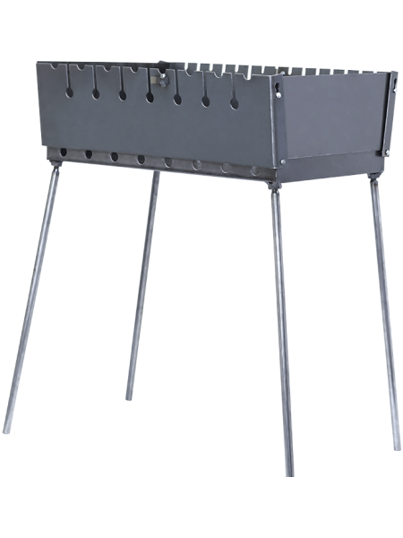 Мангал-чемодан на 8 шампуров, 2мм