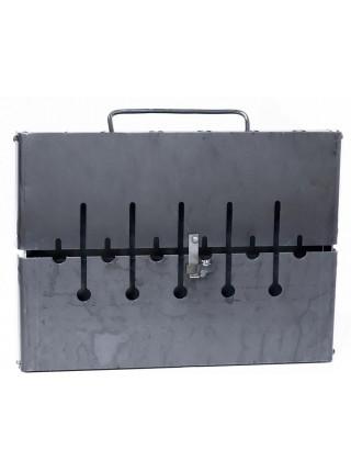 Мангал-чемодан на 6 шампуров, 2мм