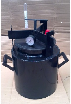 Автоклав газовый черный, мини, винт