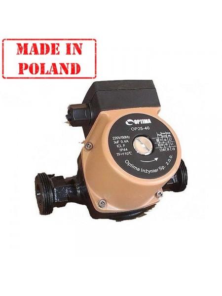 Циркуляционный насос Optima OP 25-40 (Польша)